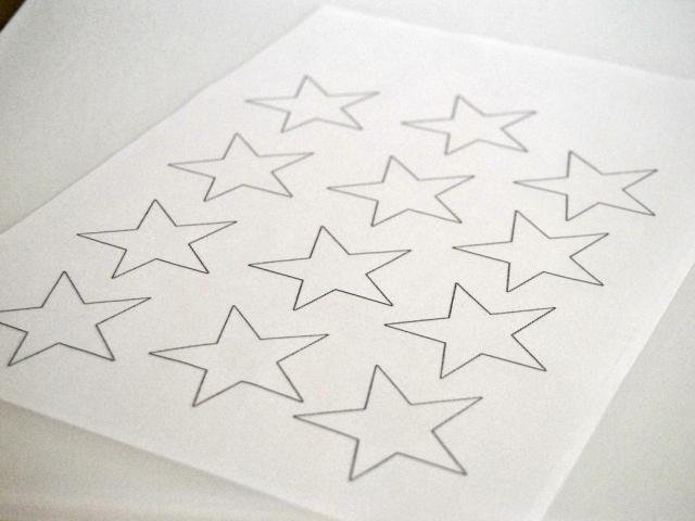 Für mehr Stil die transparenten Sterne