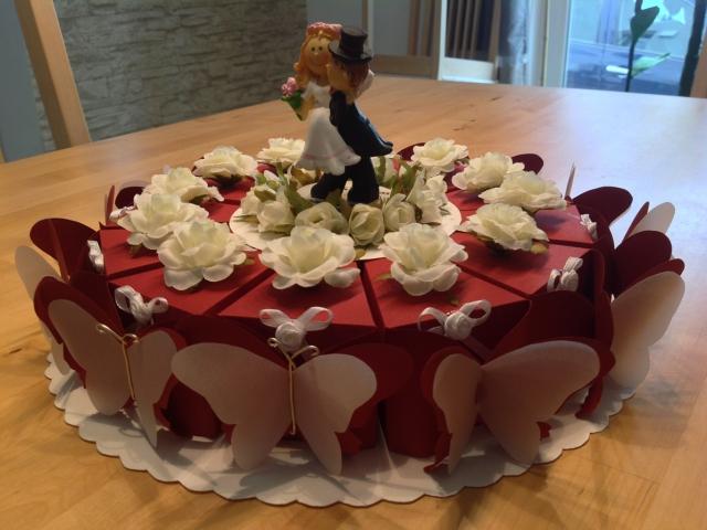 Die Torte von der Seite